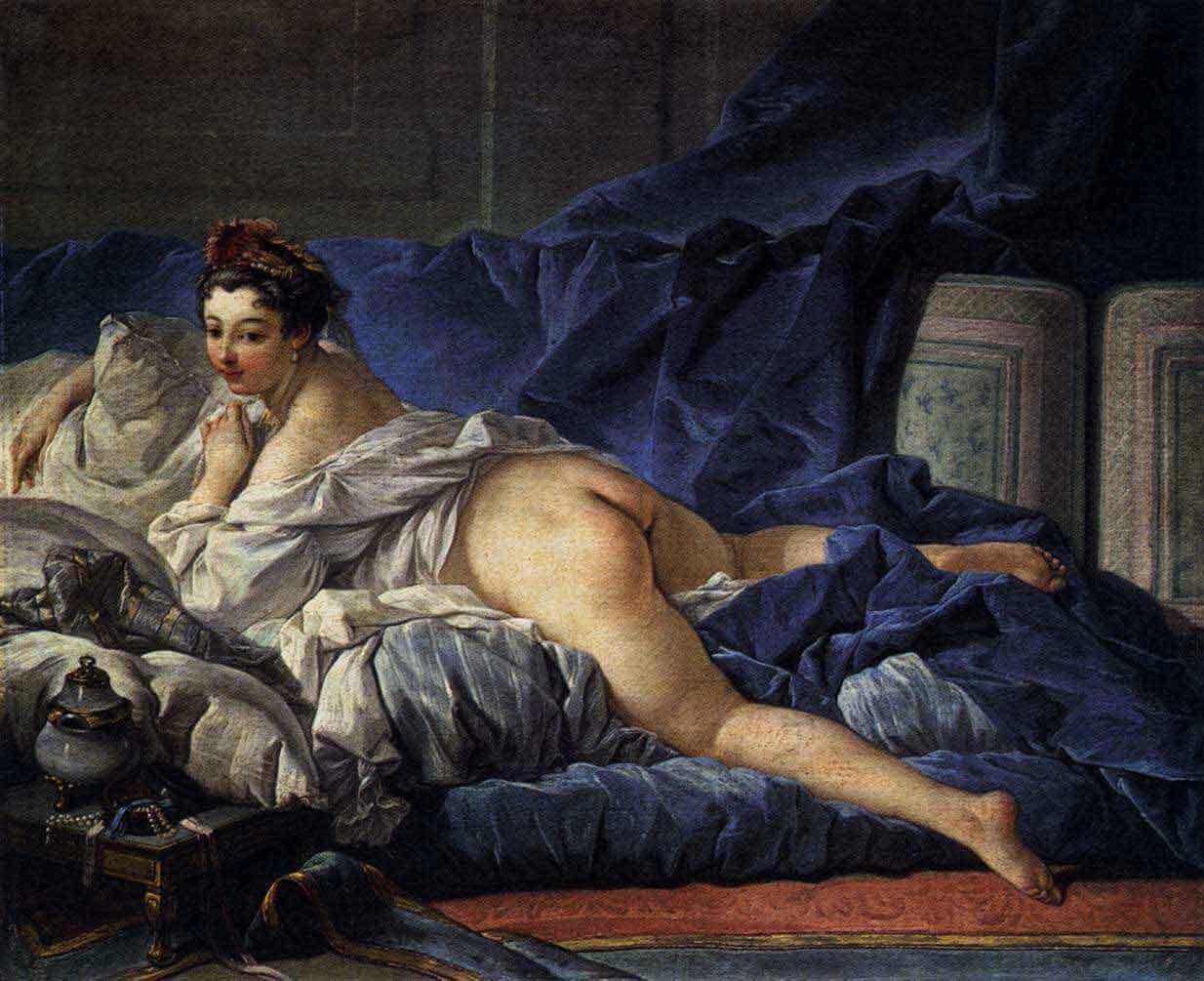 Un peintre dans le boudoir