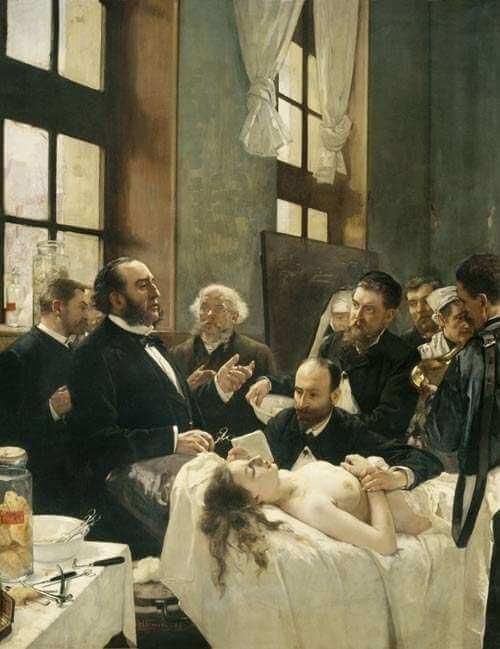 «Le docteur Péan opérant à l'hôpital Saint-Louis»