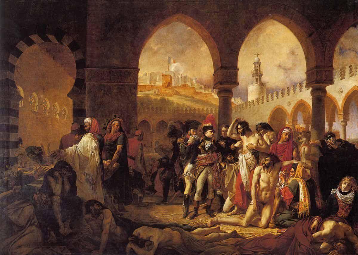 Bonaparte visitant les pestiférés de Jaffa